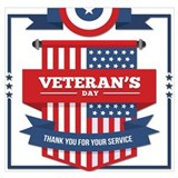 Veterans day Wrapped Canvas Art