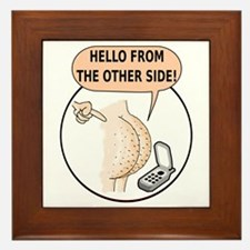 Hello From The Other Side Framed Tile