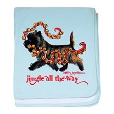 Jingle Cairn Terrier baby blanket
