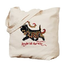 Jingle Cairn Terrier Tote Bag