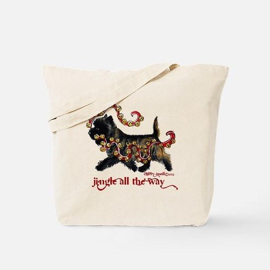 Jingle Cairn Terrier Tote Bag