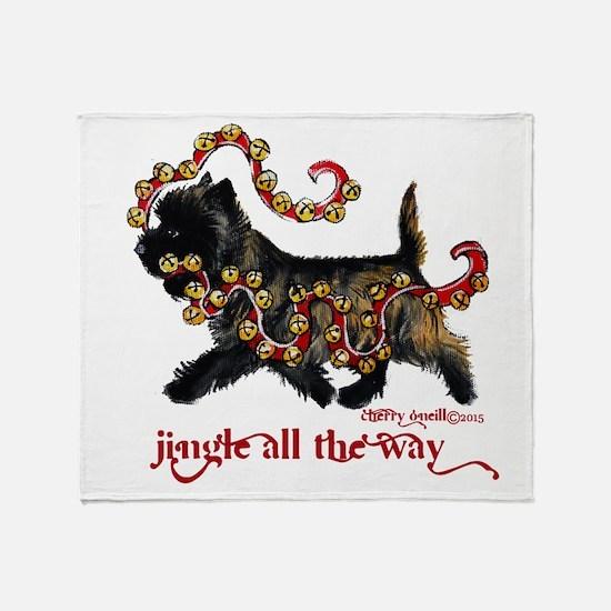 Jingle Cairn Terrier Throw Blanket