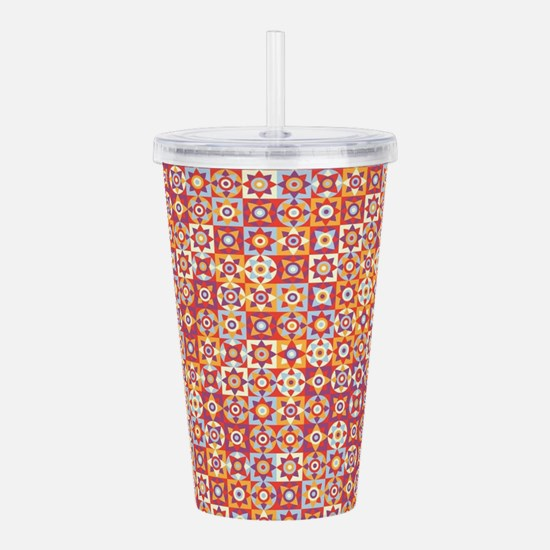 Cute Red square Acrylic Double-wall Tumbler