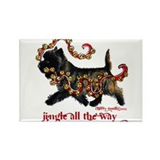 Jingle Cairn Terrier Magnets