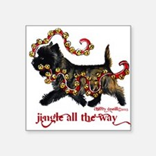 Jingle Cairn Terrier Sticker