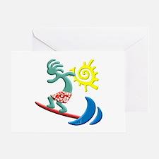 Kokopelli Surfer Greeting Card