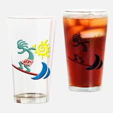 Kokopelli Surfer Drinking Glass