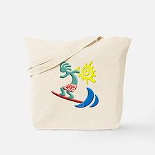 Kokopelli Surfer Tote Bag