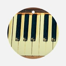 Musical Keys Round Ornament