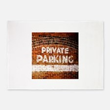 Private Parking 5'x7'Area Rug