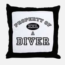 Property of a Diver Throw Pillow