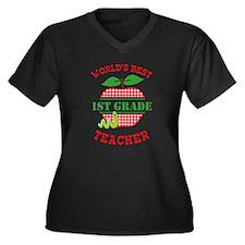 Apple Best Teacher Plus Size T-Shirt