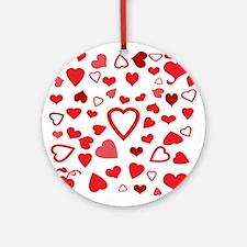 Hearts a'Plenty Round Ornament