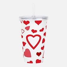 Hearts a'Plenty Acrylic Double-wall Tumbler