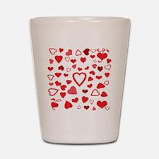Hearts a'Plenty Shot Glass