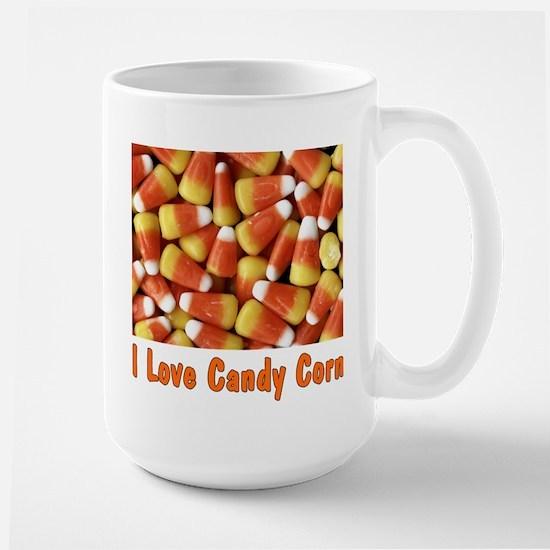 I Love Candy Corn Large Mug