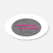 Your Image Here Oval Oval Car Magnet