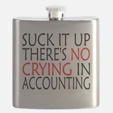 There's No Crying In Accounting Flask