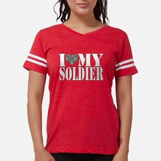 I Love My Soldier Women's Dark T-Shirt