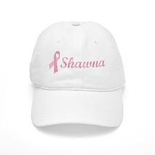 Shawna vintage pink ribbon Baseball Cap