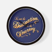 Destination Journey -txt Wall Clock
