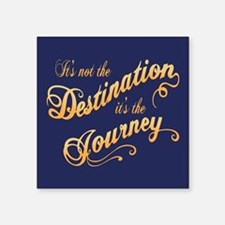 "Destination Journey -txt Square Sticker 3"" x 3"""
