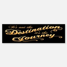Destination Journey -txt Sticker (Bumper)