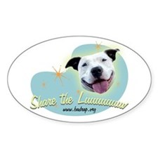 Share the Luuuuv Oval Sticker