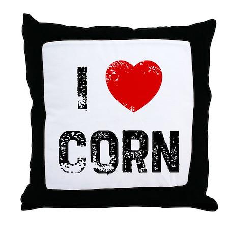I * Corn Throw Pillow