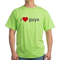 I Heart Guys Green T-Shirt
