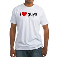 I Heart Guys Fitted T-Shirt