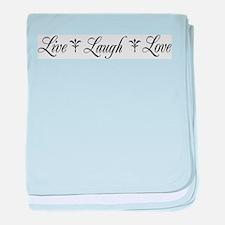 Live, Laugh, Love baby blanket