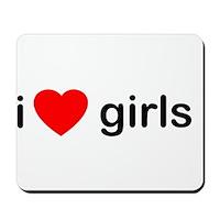 I Heart Girls Mousepad