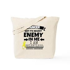 Sarcoma Cancer Enemy Tote Bag