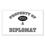 Property of a Diplomat Rectangle Sticker
