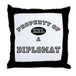 Property of a Diplomat Throw Pillow