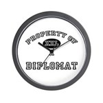 Property of a Diplomat Wall Clock