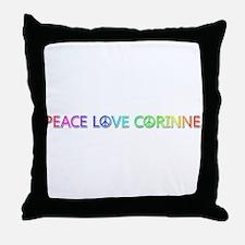 Peace Love Corinne Throw Pillow