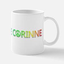 Peace Love Corinne Mugs