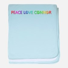 Peace Love Connor baby blanket