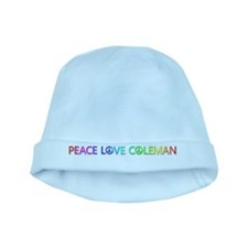 Peace Love Coleman baby hat