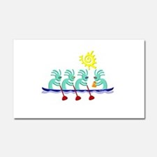 Kokopelli Rowing Car Magnet 20 x 12