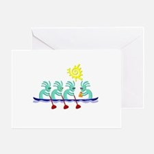 Kokopelli Rowing Greeting Card