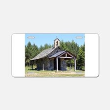 El Camino, church at Cruz d Aluminum License Plate