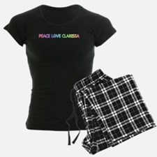 Peace Love Clarissa Pajamas