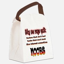 Reasons gamers rage quit Canvas Lunch Bag