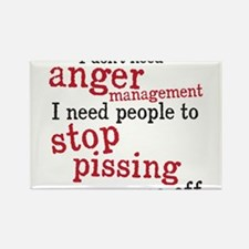 Cute Anger management Rectangle Magnet