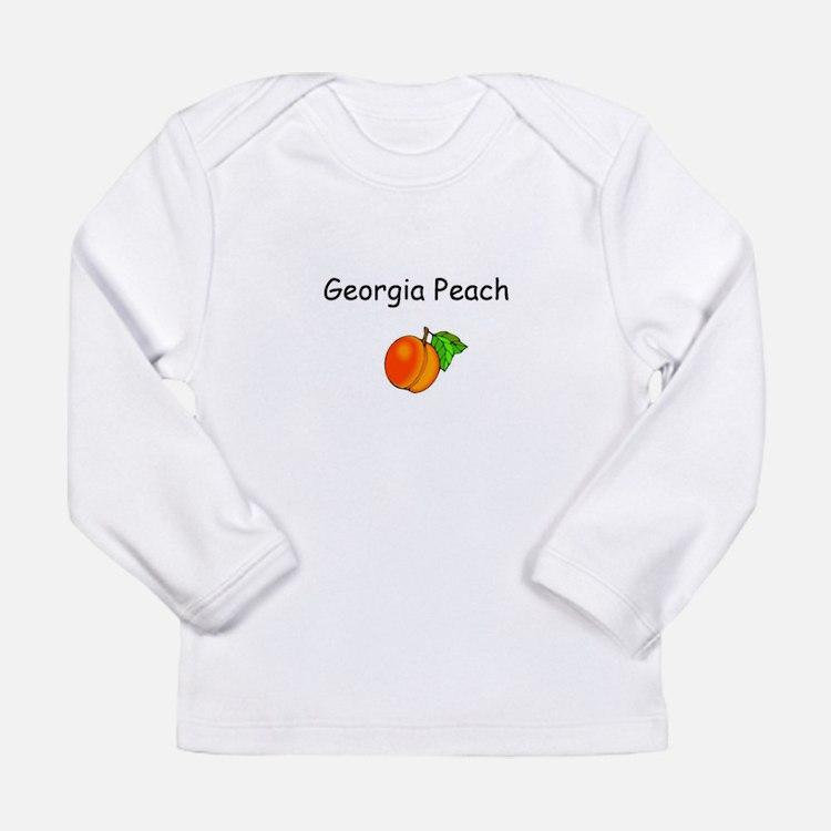 Cute Peach girl Long Sleeve Infant T-Shirt