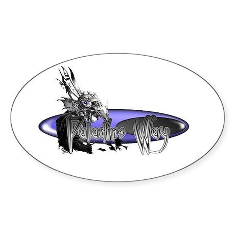 Paladins Way Oval Sticker