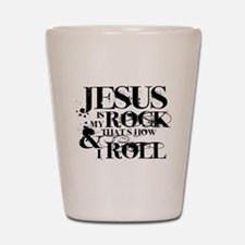 Jesus is My Rock Shot Glass